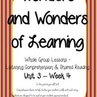 Wonders of Learning - Unit 3, Week 4 - Reading Comprehension