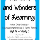 Wonders of Learning - Unit 4, Week 3 - Reading Comprehension