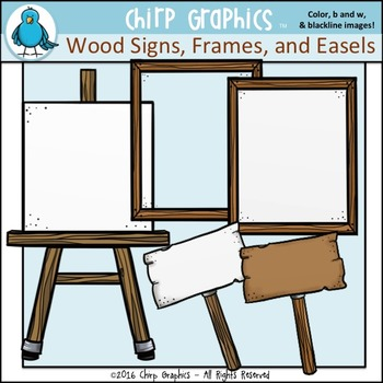 Wood Borders, Frames, and Background Paper Clip Art Set - Chirp Graphics