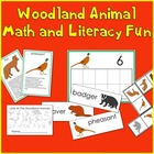 Woodland Animal Math and Literacy Fun