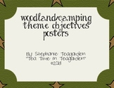 Woodland/Camping Theme Objective Posters