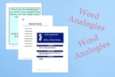 Word Analogies Centers/Stations