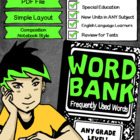 Word Bank (Printable Booklet) MUST SEE
