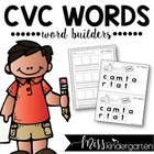 CVC Word Builders {short vowel practice}