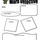 Word Detective Graphic Organizer
