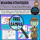 Reading Strategies-Mini Lessons: Word Detectives FREEBIE!