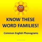 Word Families - Common English Phonograms PowerPoint