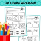 Word Families - Cut & Paste Worksheets (Short Vowel)