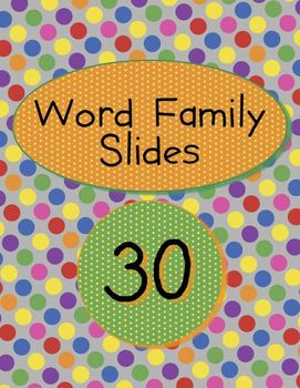 Word Families - Slides for Kindergarten and First Grade
