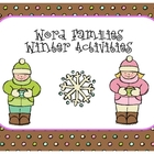 Word Families - Winter Activities