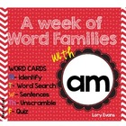 Word Family - am family
