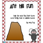 Word Family Ant Hill Mats and Bulletin Board