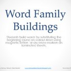 Word Family Buildings