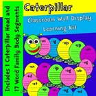 Word Family Caterpillar-XL Wall Display-Word Center-Color