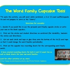 Word Family Cupcake Toss Phonics Center