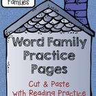 CVCe BUNDLE: Word Family Cut, Paste & Read Practice CVCe Families