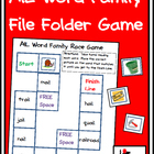 Word Family File Folder Game - AIL Family