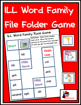 Word Family File Folder Game - ILL Family