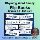 Word Family Flip Books Assortment - Grades 1-2 - Grayscale