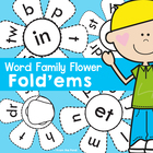 Word Family Fold'ems - Print, Cut, Color, Fold, Write and Paste