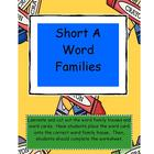 Word Family Houses for the Young Reader - Short A