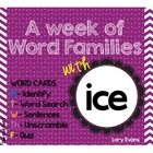 Word Family - ice family