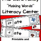 Word Family Making Words Center - ATE Family