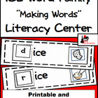 Word Family Making Words Center - ICE Family
