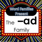 Word Family Packet (The -ad Family)
