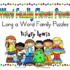 Word Family Puzzles - Flower Power - Long A