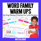 Word Family Warm-Ups for Phonics and Reading Practice