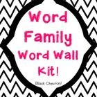 Word Family Word Wall Kit: Black Chevron (30 word families)