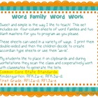 Word Family Word Work K-2