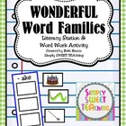 Word Family Word Work & Literacy Center Activity