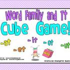 Word Family and Letter T Cube Game