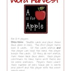 Word Harvest - Dolch Pre-Primer Game with First Grade Font
