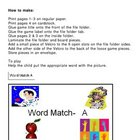 Word Match A File Folder Game Autism ESL