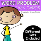 Word Problem Task Cards {Common Core Aligned}- 4 Skill Set