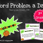 Word Problem a Day - 3rd Grade (Halloween)