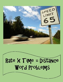 Distance - Rate - Time Word Problems 8th - 9th Grade Worksheet ...