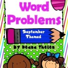Common Core Word Problems for September