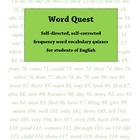 Word Quest: Self-directed, self-corrected vocab quizzes fo