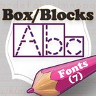 Word Shape Box/Block Fonts (Download Only)