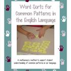 Word Sorts for Common Patterns in English
