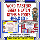 Word Stems and Roots Bundle: Interactive Notebook + Full Y