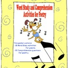 Poetry- Word Study Activities and Comprehension Questions