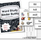 Word Study Binder Buddy (Letter Name Stage)