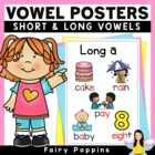 Word Study Freebie - Short and Long Vowel Posters and Game