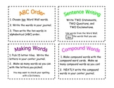 Word Study Spelling Task Cards