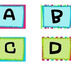 Word Wall Alphabet Cards
